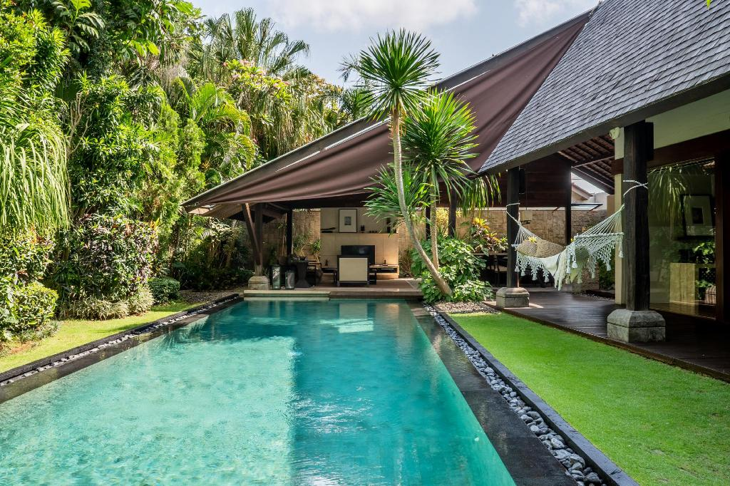 you experience the very soul of this heavenly island. Located in Canggu, Ametis Villa is about 35 minutes from Kuta. This area maintains its cultural roots and is dotted with productive rice terraces that extend to a rugged stretch of coastline. Canggu is popular within surfing and expatriate circles, sought out for its laidback lifestyle qualities away from the crowds and concrete jungle of Seminyak. Ametis Villa is a luxury lifestyle villa with a home-style concept that will make you feel like you truly belong. During your stay, you will be assigned a personal butler, who excels in the singular ability to anticipate your every need and to exceed your every expectation. Conceived, built and managed with integrity, Ametis Villa is respectful of Bali's unique cultural heritage, seeks to interact with the local community and shows sensitivity towards the immediate environment
