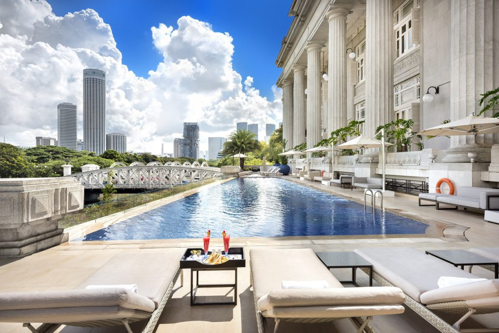 The Fullerton Hotel outdoor pool