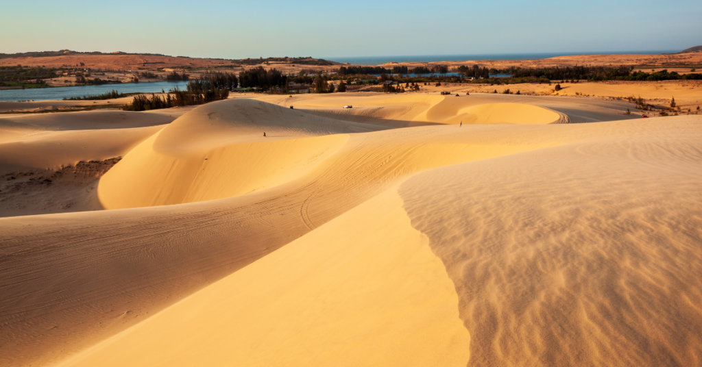 The white sand dunes of Mui Ne